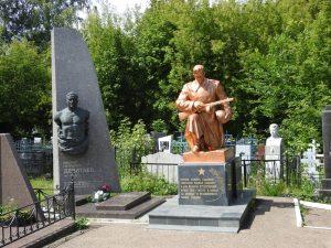 Kazan. Pamätník neznámemu vojakovi s tvárov Stalinovho syna Vasiljeva.