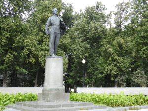 Kazan. Socha Uljanova - Lenina študenta Kazanskej univerzity..